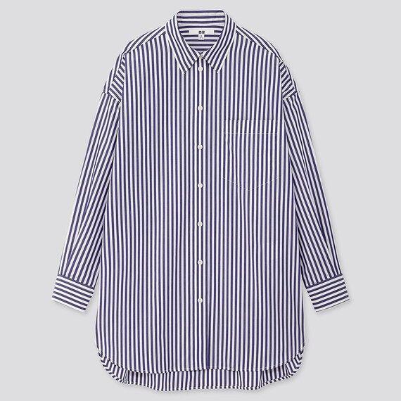 エクストラファインコットンオーバーサイズロングシャツ