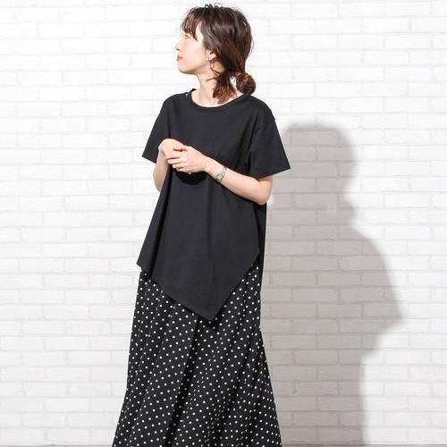 夏に映える黒スカート♡柄入りで華やかな着こなしを楽しもう