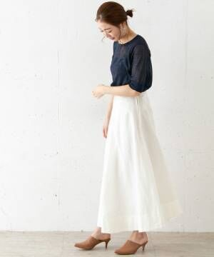 [URBAN RESEARCH ROSSO WOMEN] ATONFRONT TUCKED SKIRT