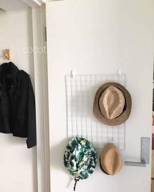 壁面 帽子 見せる収納3
