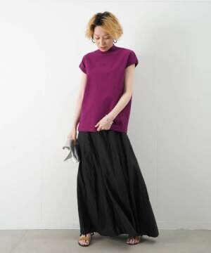 [LUCA/LADY LUCK LUCA] LC/LLL ロゴフレンチスリーブTシャツ