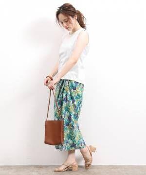 [ViS] アンティークフラワーツイストスカート