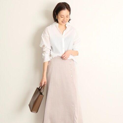 ベージュサテンスカートの夏コーデ15選♡リッチな生地で高級感アップ
