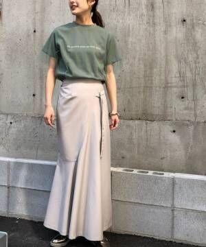 [HER CLOSET] 【&g'aime】ロゴチュールレイヤードTシャツ/シースルーTシャツ/シアーTシャツ