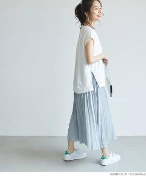 [coca] ウエストゴムプリーツスカート
