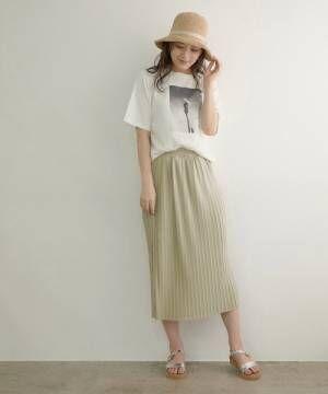 [ROPE' PICNIC] プリーツアイラインスカート