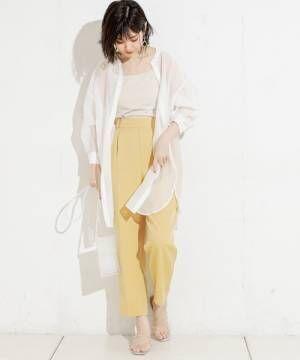 [natural couture] 【WEB限定カラー有り】プチプラ美シルエットテーパードM/Lサイズ