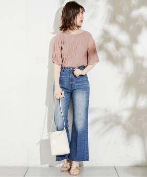 [natural couture] 長さ変えれるフレアデニム
