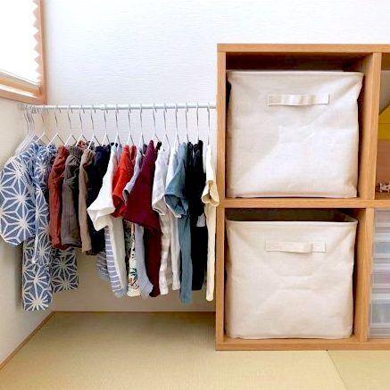 簡単!子供服の収納アイデア術☆サイズアウトした子供服もすっきり♪
