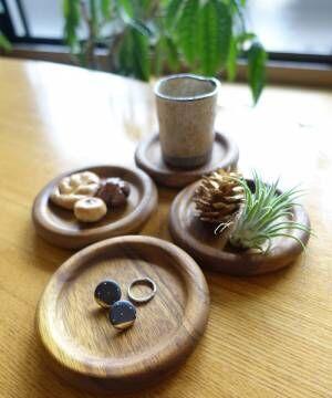 [SPICE OF LIFE] アカシアラウンドコースター 4枚セット [BONO BONO / ボーノボーノ] 新生活/キッチン