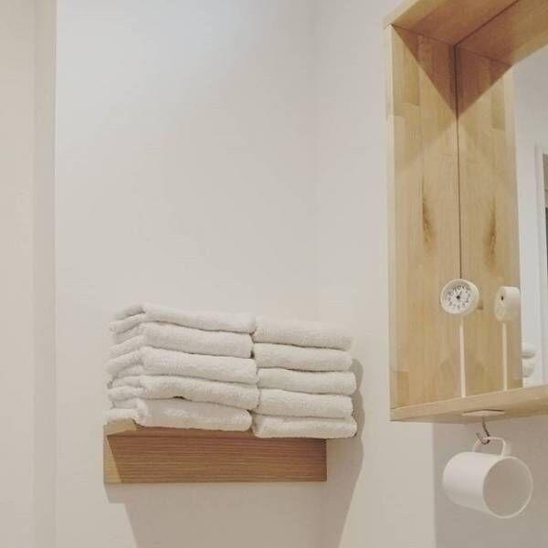 タオルを壁面に収納