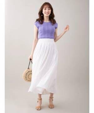 [Ailand] ウエストシャーリング刺繍スカート