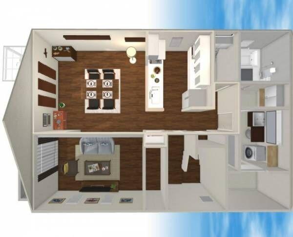 田の字型 家具 レイアウト3