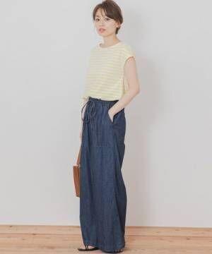 [URBAN RESEARCH] 【WEB限定】カラーボーダーTシャツ