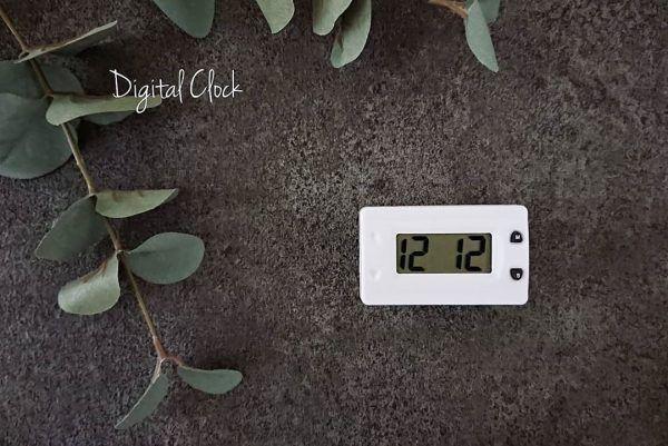 コンパクトが嬉しいデジタル時計