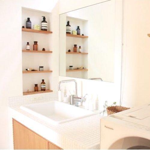 生活感を感じさせない素敵空間♡おしゃれな《洗面所》をつくるコツ