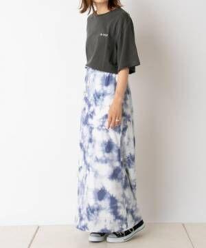 [CIAOPANIC TYPY] タイダイプリントロングスカート