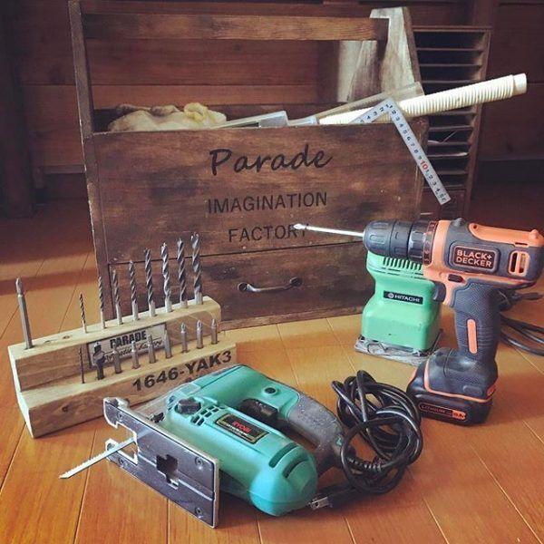 工具箱を使った工具の収納2