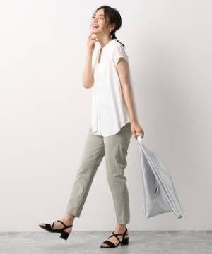 [GLOBAL WORK] フレンチリネン混フレンチブラウス【一部店舗限定】/891655