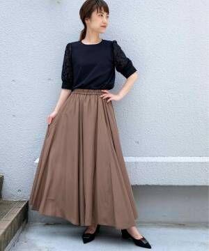 [PICCIN] マチ入りロングスカート