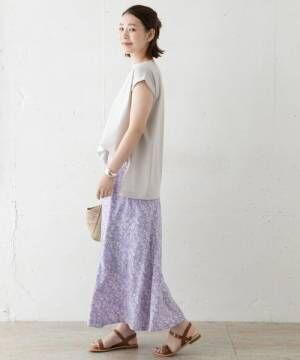 [URBAN RESEARCH ROSSO WOMEN] フラワーミックスロングスカート