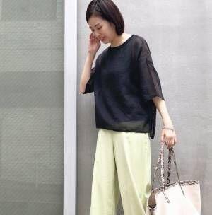 黒アイテムでおしゃれを更新!【30代】秋ムード漂うきれいめスタイル