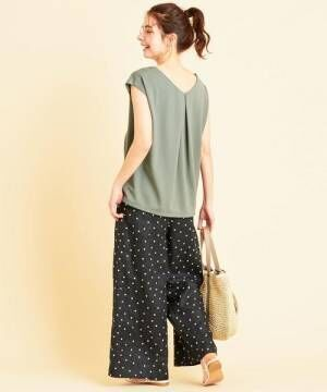 [BEAUTY&YOUTH UNITED ARROWS] 【WEB限定】by ※∴キーネックフレンチスリーブカットソー -ウォッシャブル-