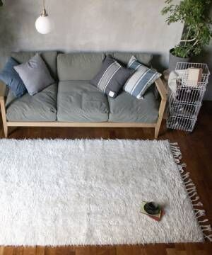 [a.depeche] NZ wool rug white / ラグマット