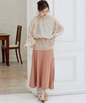 [ViS] 【WEB限定】プリーツニットスカート