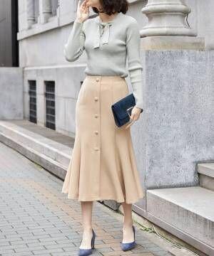 [tocco closet] フロントオープンマーメイドスカート