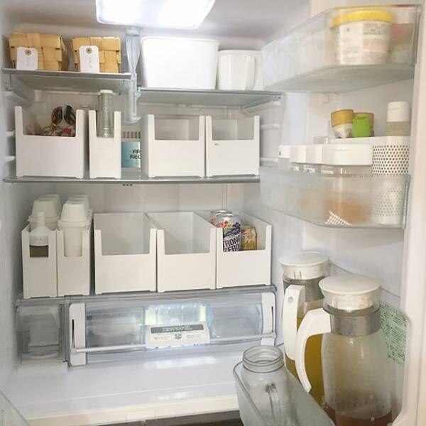 冷蔵庫の中の収納に