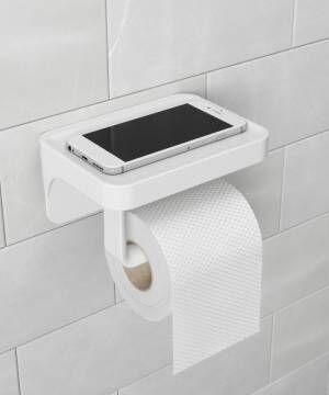 狭いトイレを使いやすくするペーパーホルダー