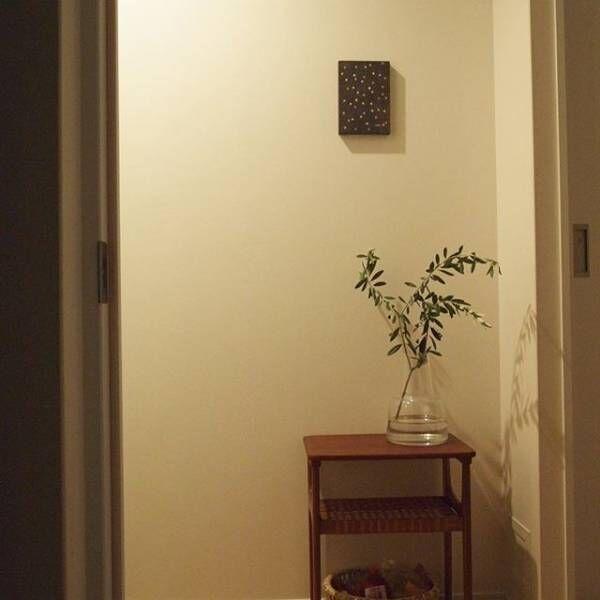 フレッシュなグリーンを使った玄関インテリア9