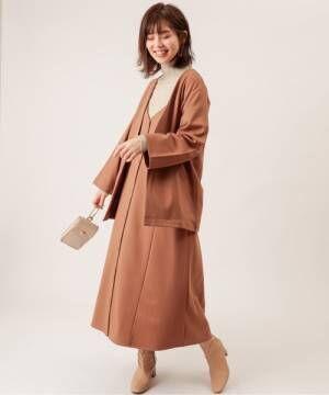 [natural couture] ノーカラーゆるっとジャケット