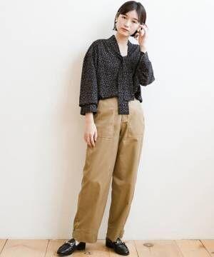 [haco!] 甘辛コーデも大人っぽもお任せできちゃう!裾しぼり2WAYカーゴパンツ