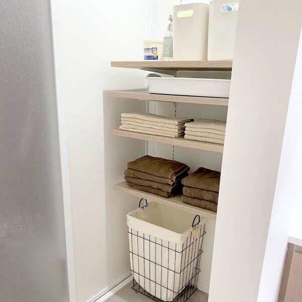空間を無駄なく活用したい♪《洗面・脱衣所》のすっきり収納アイデア