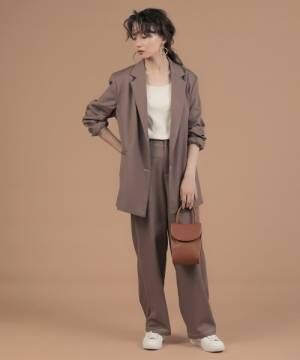 [Bou Jeloud] 【WEB限定】セットアップ対応可◆配色ステッチテーラードジャケット