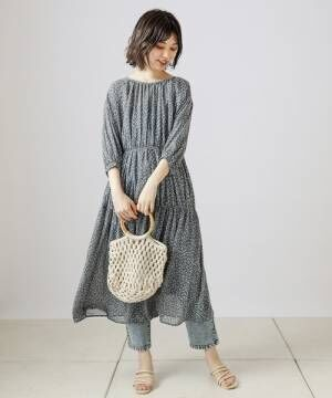 [natural couture] ベルト付きストレッチデニムパンツ