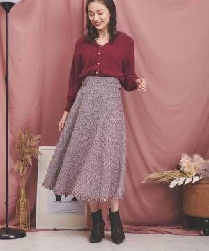 [Noela] ツイードスカート