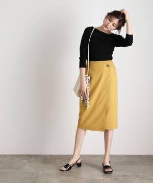 [ViS] 【WEB限定SS,LLサイズ】【EASY CARE】アシメラップIラインスカート
