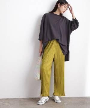 [ViS] 【一部WEB店舗限定カラー】プリーツパンツ