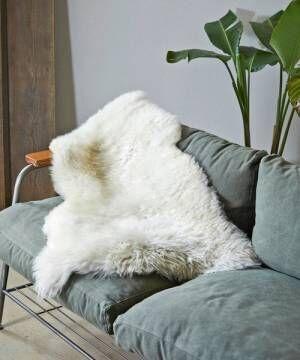 [JACK & MARIE] GLENCROFT StyleStandard Sheepskin Rug (グレンクロフト スタイルスタンダード シープスキンラグ)(WHITE)(ラグ マット)