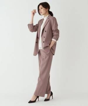 [AG by aquagirl] 【Lサイズあり】ストレッチダブルボタンテーラードジャケット