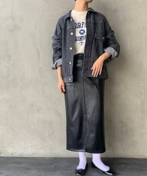 [JEANS FACTORY] [JEANS FACTORY CLOTHES/ジーンズファクトリークローズ] エコレザータイトスカート