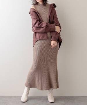 [natural couture] 袖口タックバックスリットシャツジャケット