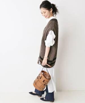 [IENA] 【Oldderby Knitwear】 ニットベスト◆2