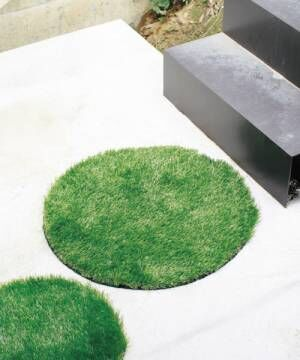 [SPICE OF LIFE] 人工芝グリーングラスマット ラウンド Lサイズ GRASS MAT 65cm