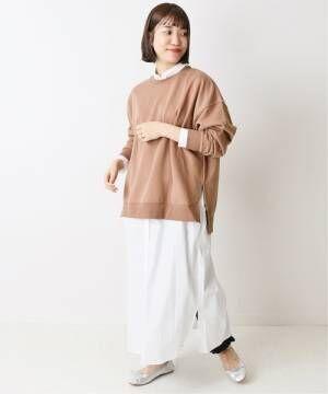 [IENA] カーボン裏毛プルオーバー【手洗い可能】◆
