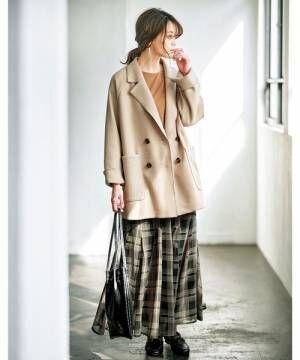 [GeeRA] 【20秋冬新着】ウールライクショートコート