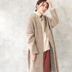 羽織るだけでクラス感アップ♡ガウンコートで作る大人の装い15選